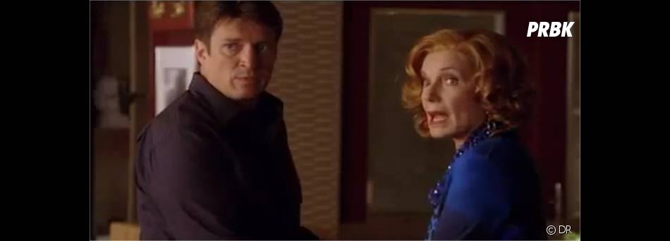 Castle et Martha en pleine discussion