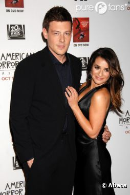 Lea Michele et Cory Monteith à la soirée de lancement de la saison 2 d'American Horror Story !