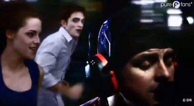 Moment de joie entre Bella et Edward