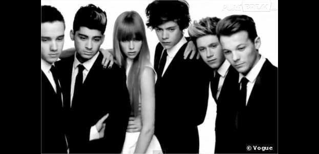 One Direction : En costume au côté de Edie Campbell