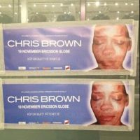 Chris Brown : la photo de Rihanna tabassée sur son affiche de concert ! (PHOTO)
