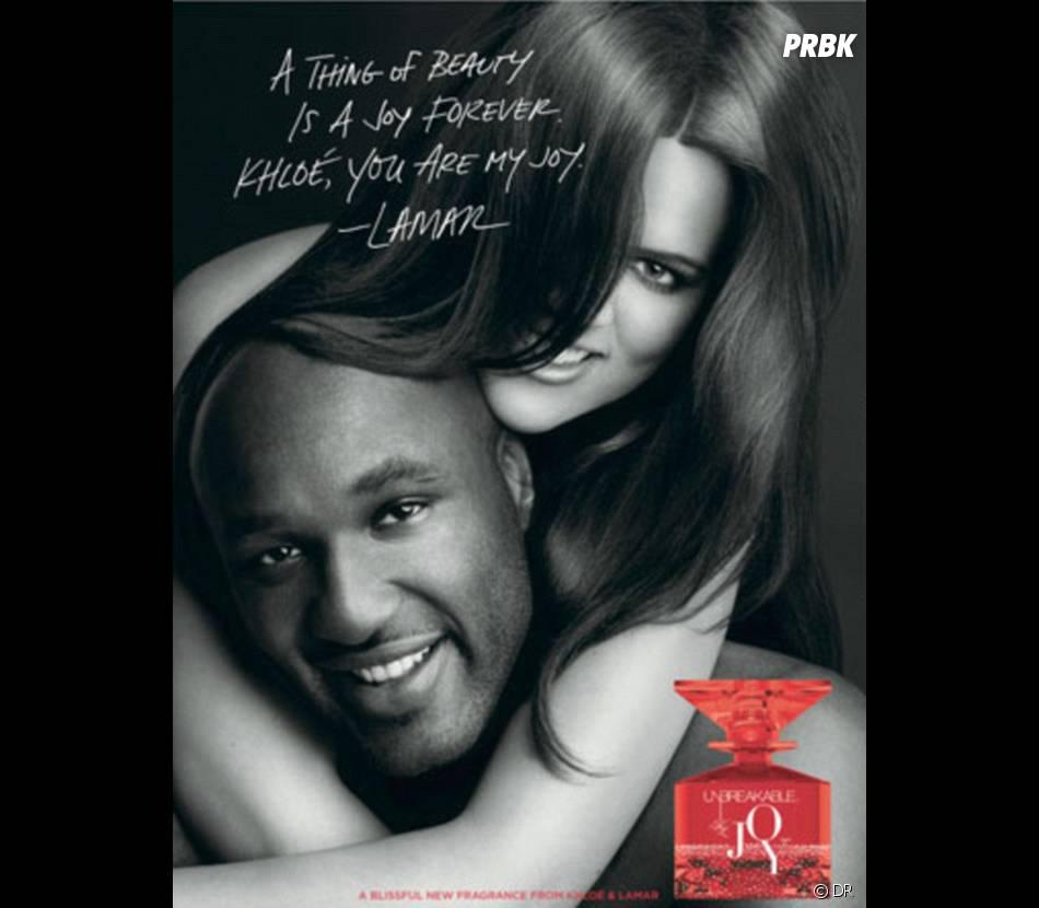 Khloé et Lamar pour le parfum Kardashian