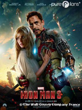 Robert Downey Jr ne lâche pas Gwyneth Paltrow sur un nouveau poster d'Iron Man 3