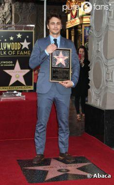James Franco a son étoile sur Hollywood Boulevard