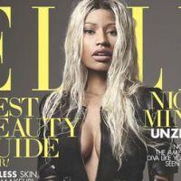 Nicki Minaj : sans maquillage mais avec décolleté en Une du Elle US