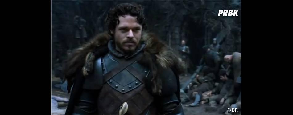 Robb prêt à se battre dans Game of Thrones