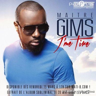 """Le single J'me tire est le 2e extrait de l'album solo de Maitre Gims """"Subliminal"""", sortie prévue le 20 mai 2013"""
