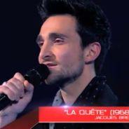 Julien Mior VS Benjamin Bocconi (The Voice 2) : Une prestation émouvante sur le titre La Quête de Jacques Brel