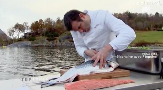 Les candidats de Top Chef 2013 ont dû pêcher et cuisiner eux-mêmes le saumon en Norvège.