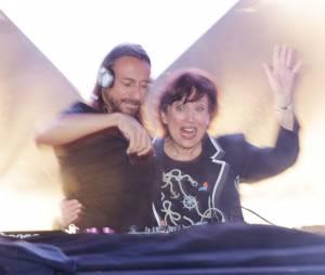 Roselyne Bachelot et Bob Sinclar, DJ set à quatre mains le 2 avril 2013 à la Gaîté Lyrique