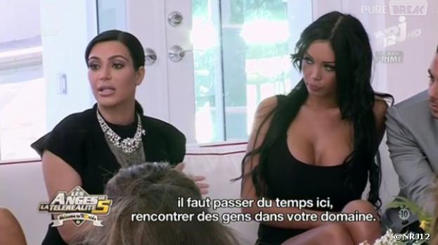 Kim Kardashian a rendu visite aux Anges de la télé-réalité 5 sur NRJ12.