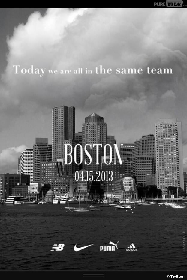 Nike, Adidas, Puma et New Balance : les quatre marques de sport s'unissent pour soutenir les victimes de l'attentat de Boston