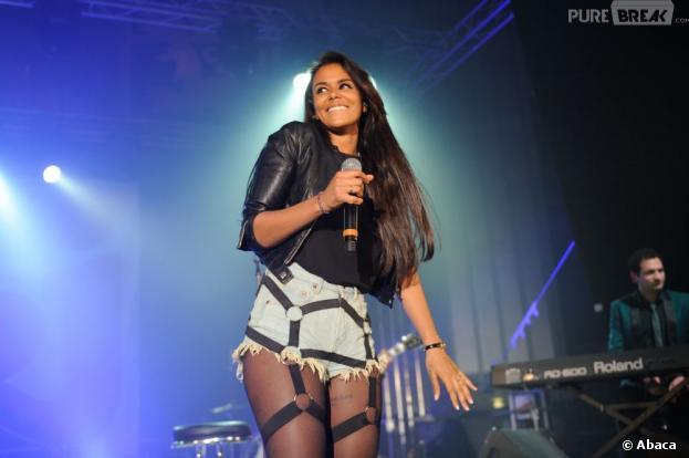 Shy'm sur la scène du NRJ Music Tour de Lyon le 20 avril 2013
