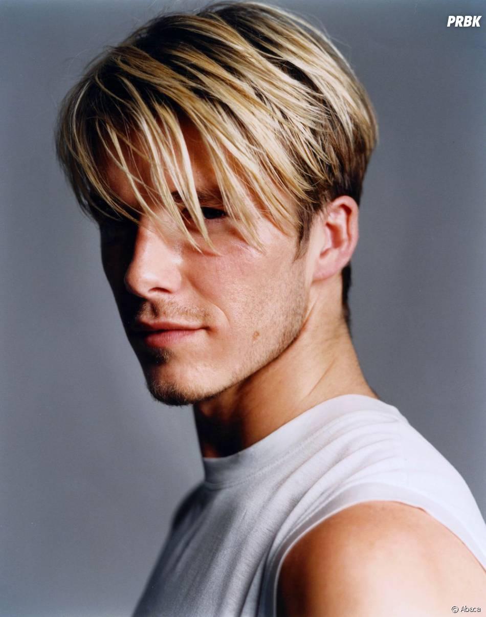 David Beckham en 2001, mèche platine de boysband