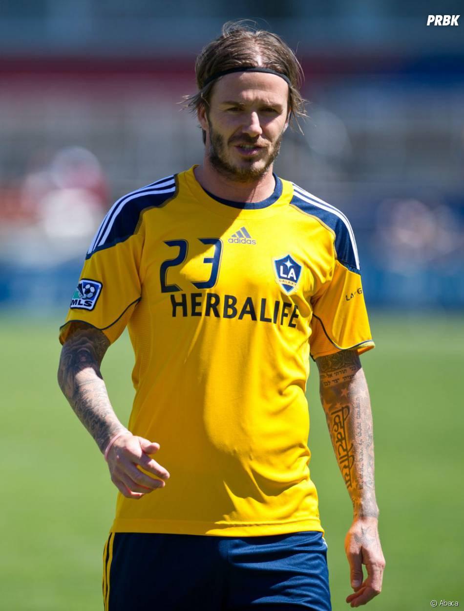 David Beckham en 2011, bandeau façon Falcao