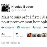 Nicolas Bedos homophobe ? Réponse coup de poing pour répondre à la polémique de son tweet