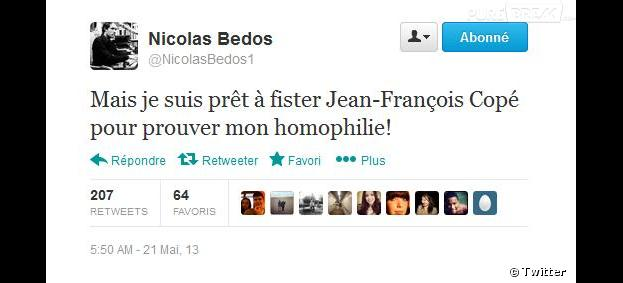 Accusé d'homophobie, Nicolas Bedos veut prouver sa bonne foi sur Twitter