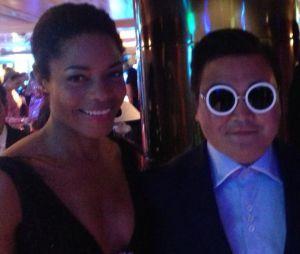 Le faux Psy a réussi à berner la James Bond Girl Naomie Harris