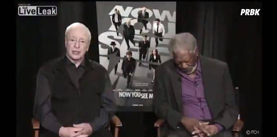 Morgan Freeman, petit somme en pleine interview tv