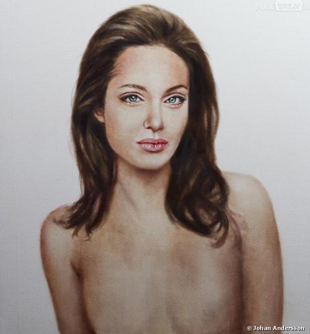 Portrait d'Angelina Jolie après sa mastectomie, de Johan Andersson