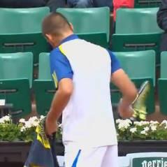 Mikhail Youzhny pète les plombs et massacre sa raquette à Roland Garros 2013