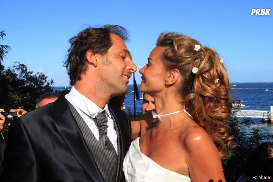 """Ingrid Chauvin et Thierry Peythieu se sont dit """"oui"""" en août 2011 au Cap-Ferret"""