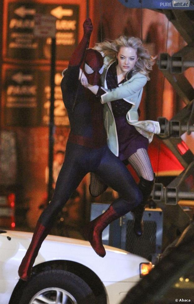 The Amazing Spider-Man 2 : Gwen survole la ville avec Parker