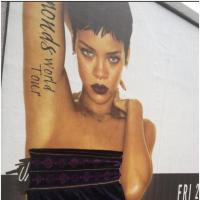 Rihanna : ses affiches topless rhabillées en Irlande