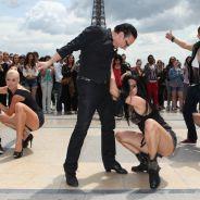 Danse avec les stars 4 - Chris Marques, Katrina Patchett... : flash mob endiablé au pied de la Tour Eiffel