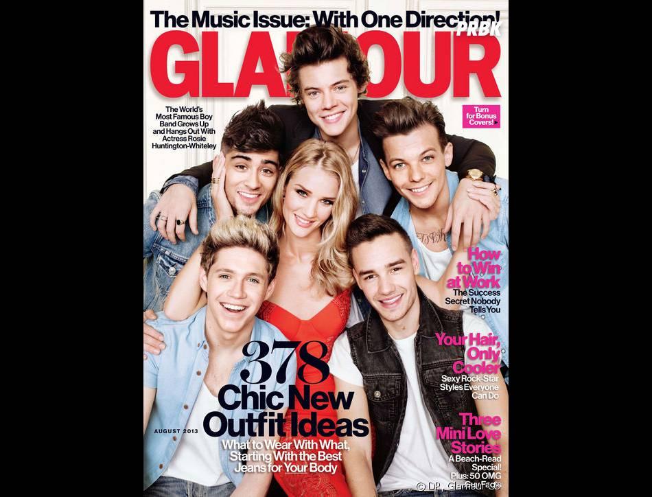 Rosie Huntington-Whiteley tripote les One Direction en couv' de Glamour US