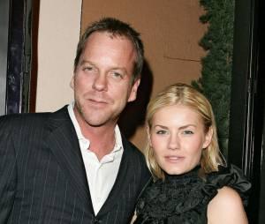 Elisha Cuthbert et Kiefer Sutherland, son papa de télévision