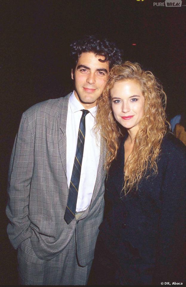George Clooney et Kelly Preston en 1988.
