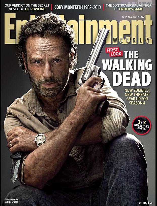 The Walking Dead saison 4 : Rick prend la pose pour EW
