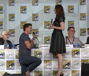 David Boreanaz demande la main d'Emily Deschanel au Comic Con 2013