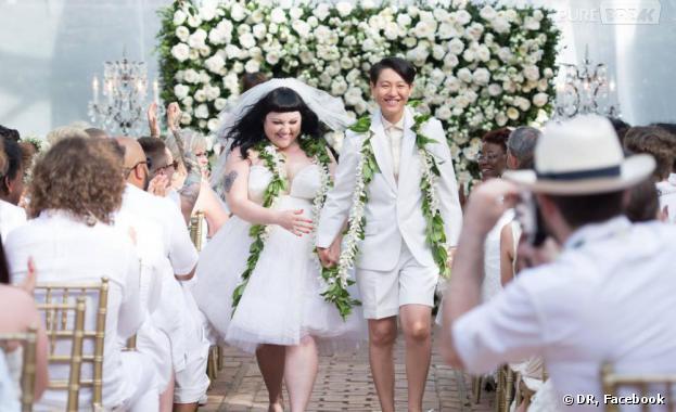 Beth Ditto s'est mariée avec sa petite amie en juin à Hawaï.