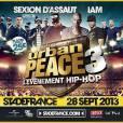 Sexion d'Assaut au programme de l'Urban Peace 3, le 28 septembre 2013 au Stade de France