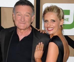 Robin Williams et Sarah Michelle Gellar aux TCA's de Los Angeles le 29 juillet 2013