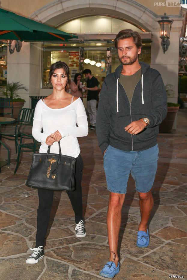 Kourtney Kardashian et Scott Disick à Los Angeles, le 29 juillet 2013