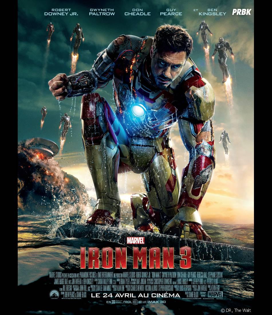 Iron Man 3 : Robert Downey Jr sur un poster
