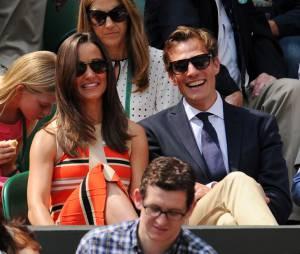 Pippa Middleton etNico Jackson très complices lors de Wimbledon 2013