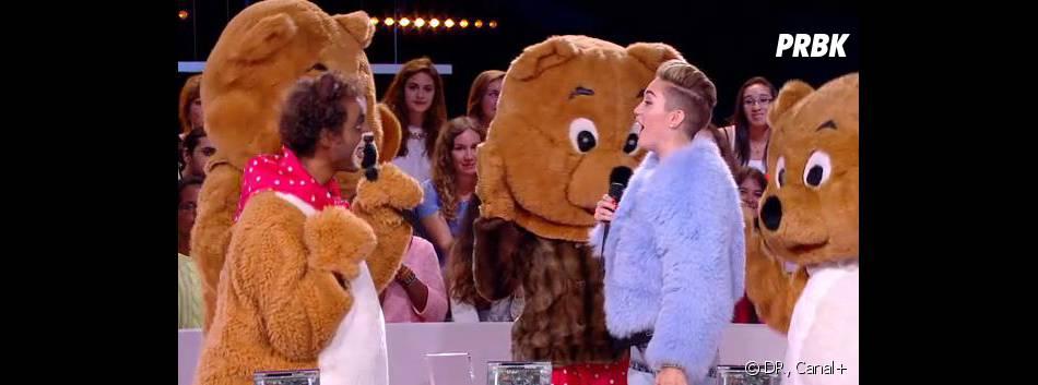 Miley Cyrus danse avec des ours sur le plateau du Grand Journal