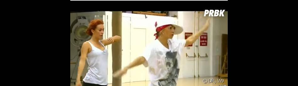 Les Ch'tis à Hollywood : Gaelle taclée par Marys pendant un cours de danse
