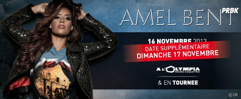 Amel Bent sera en tournée dans toute la France dès novembre 2013