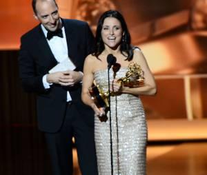 Emmy Awards 2013 : Julia Louis Dreyfus sacrée meilleure actrice dans une comédie pour Veep le 22 septembre 2013 à Los Angeles