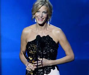 Emmy Awards 2013 : Anna Gunn remporte le prix de meilleure actrice dans un second-rôle pour une série dramatique pour Breaking Bad le 22 septembre 2013 à Los Angeles