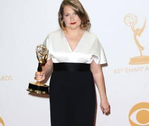 Emmy Awards 2013 : Merritt Wever remporte le prix de meilleure actrice dans un second-rôle pour une série comique pour Nurse Jackie le 22 septembre 2013 à Los Angeles