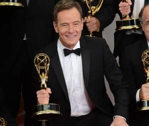 Emmy Awards 2013 : Bryan Cranston remporte un Emmy pour Breaking Bad le 22 septembre 2013 à Los Angeles