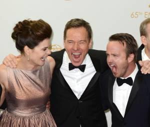 Emmy Awards 2013 : Les acteurs de Breaking Bad remportent le prix de Meilleure série dramatique le 22 septembre 2013 à Los Angeles
