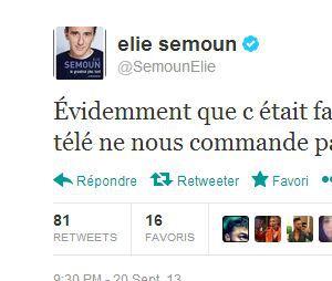 Elie Semoun réagit à la fausse bagarresur Twitter