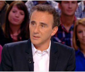 Elie Semoun faussement énervé dans Le Grand Journal, le 20 septembre 2013 sur Canal Plus